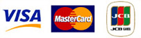 We accept Visa, Mastercard, JCB and all co-branded cards.